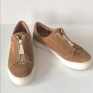 Frye Lena Zip Suede Sneaker